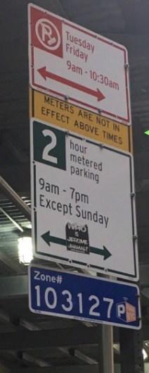parking ticket quickie quiz parking sign