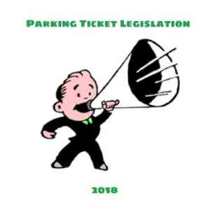 Announcing Parking Ticket Legislation on the Agenda for 2018