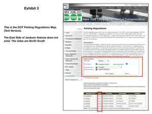 metes and bounds defense using DOT parking regulations map (text version)