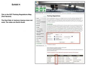 metes and bound description defense using DOT parking regulations map (text version)