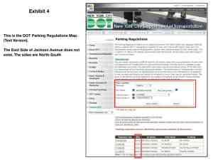 metes and bound description defense using DOT parking regulations map (text version)