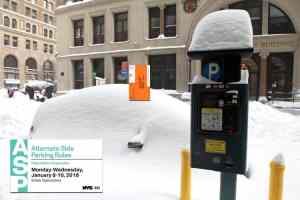 Parking tickets issued on snow days when MM wouldn't accept money
