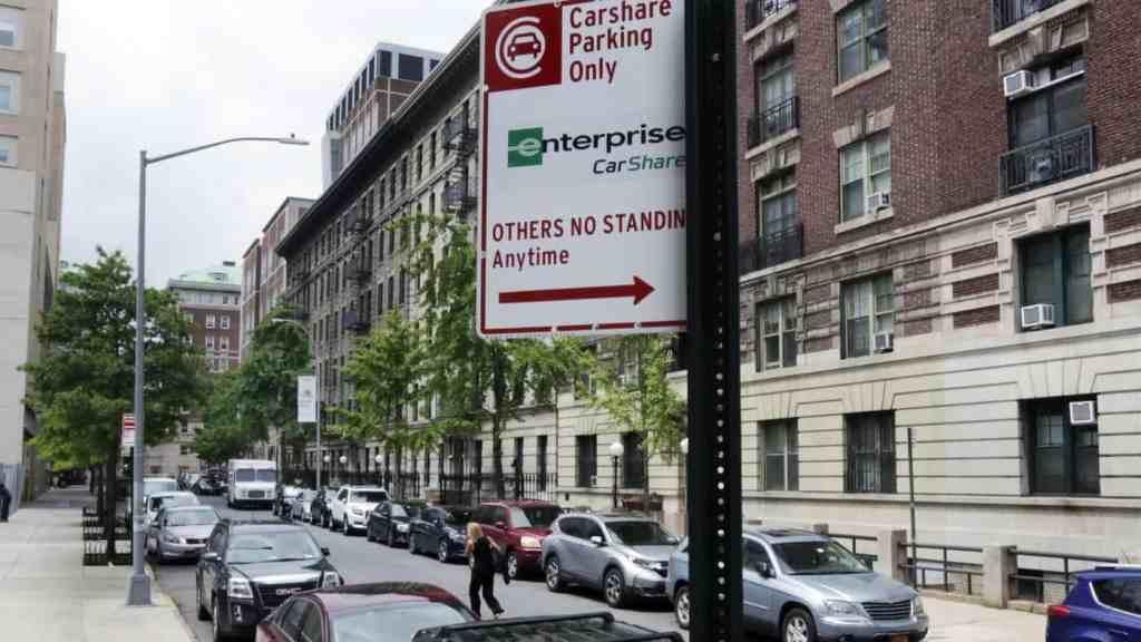 NYC car sharing parking sign