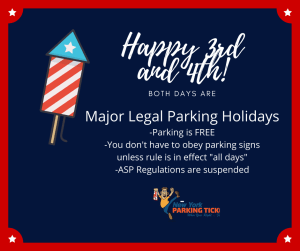 July 4th is a major legal parking holiday in NYC