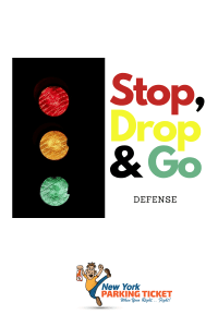 stop, drop & go defense to no standing ticket