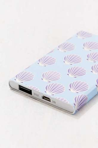 Slim Shell Print Portable Power Charger from www.urbanoutfitters.com