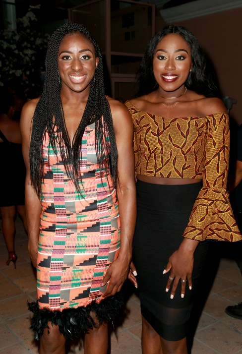 JULY 11: WNBA player Nneka Ogwumike (L) and Chiney Ogwumike attend The Players' Tribune Hosts Players' Night Out 2017 at The Beverly Hills Hotel on July 11, 2017 in Beverly Hills, California. (Photo by Leon Bennett/Getty Images for The Players' Tribune )