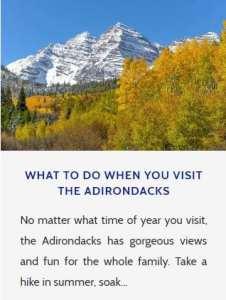 Adirondacks To Do List