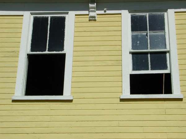 Before - Double Hung Windows