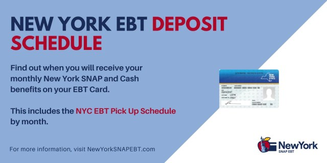 """""""Get NYC EBT Pickup Schedule by Month"""""""