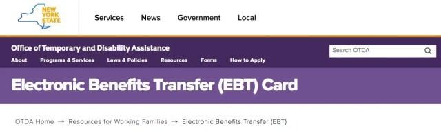 """New York EBT Customer Service"""