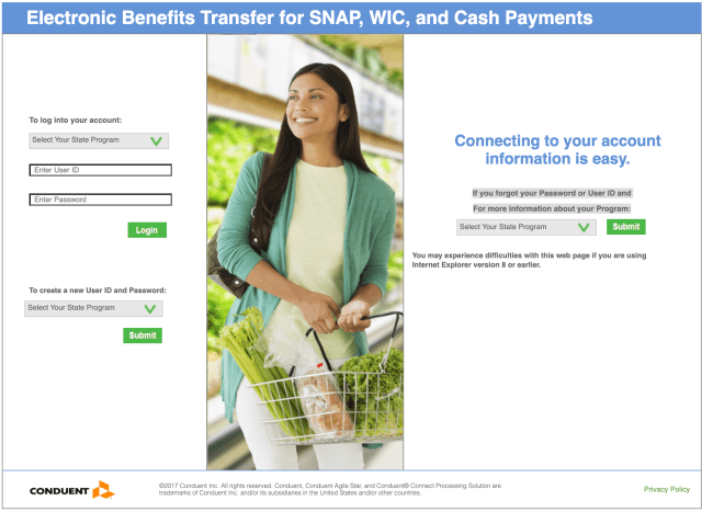 """New York SNAP EBT Card Balance"""