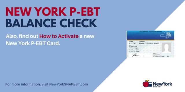 """Check the balance on your New York P-EBT Card"""