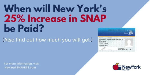 """""""New York 25% Food Stamp Increase for 2021"""""""
