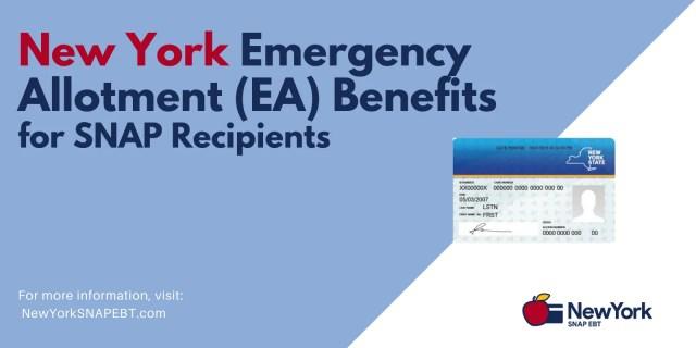 """New York Emergency Allotment (EA) Benefits - August 2021"""
