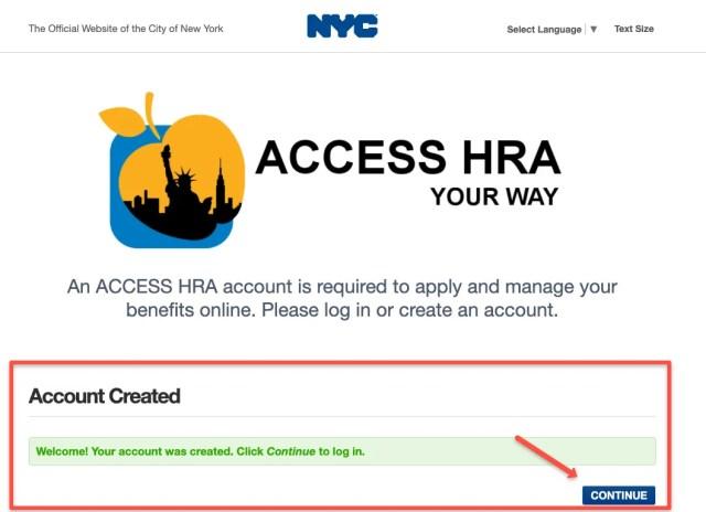 """ACCESS HRA Account created"""