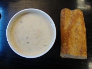 TODAY'S LUNCH: N E  CLAM CHOWDER FROM CITY CRAB (NYC RESTAURANT WEEK