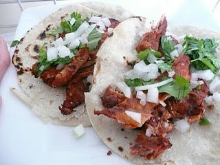 tacos al pastor without salsa & pineapple toppings