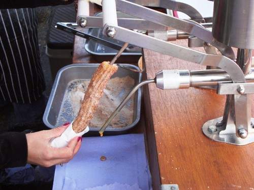 churro being filled