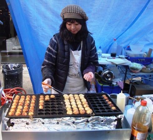 Takoyaki stand