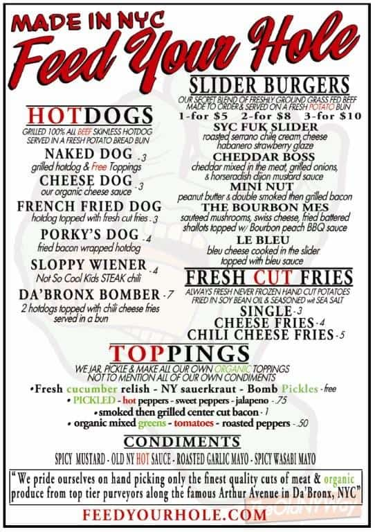 CHECK OUT THE NEW SLIDER MENU FROM FEED YOUR HOLE