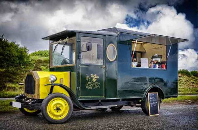Food truck service window