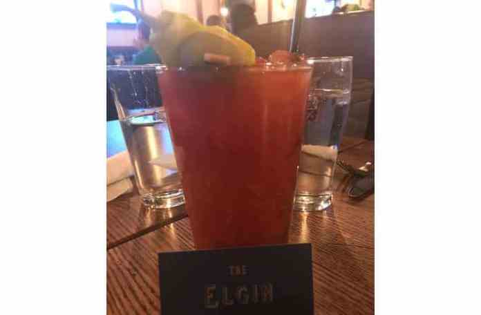Bloody mary at the Elgin