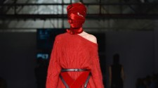 Strapping Headgear at the A.F.VANDEVORST Show for LFW 14