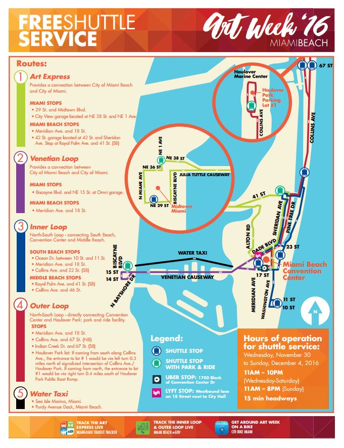 Artweek 2016 Shuttle Miami Beach and Miami