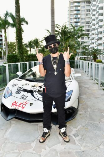"Mysterious Artist Alec Monopoly Unveils 50ft Wall ""Tag"" at Mondrian Miami for Tag Heuer"