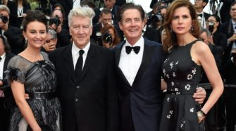 Kyle MacLachlan wears Nigel Curtiss & Desiree Gruber wears Pronovias at the Twin Peaks' Red Carpet Arrivals in Cannes 101