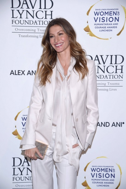 Model Gisele Bundchen attends David Lynch Foundation Hosts Women of Vision Awards at 583 Park Avenue on May 9, 2017 in New York City