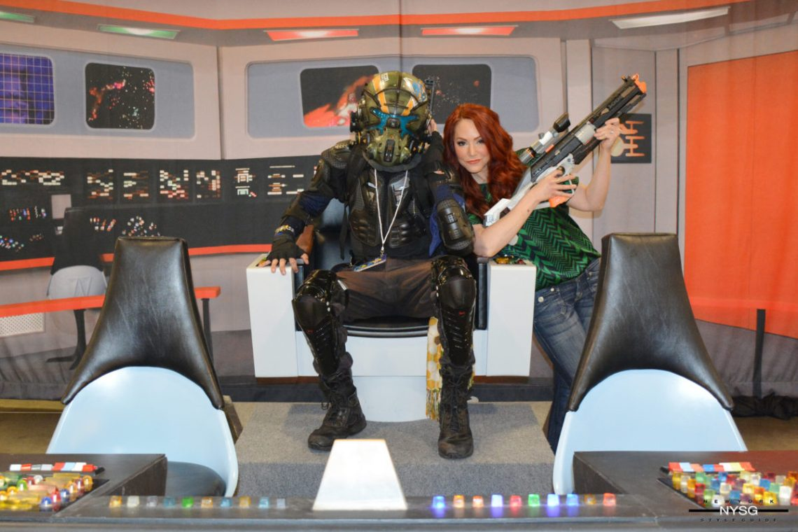 Michele Specht on the Star Trek Continues set