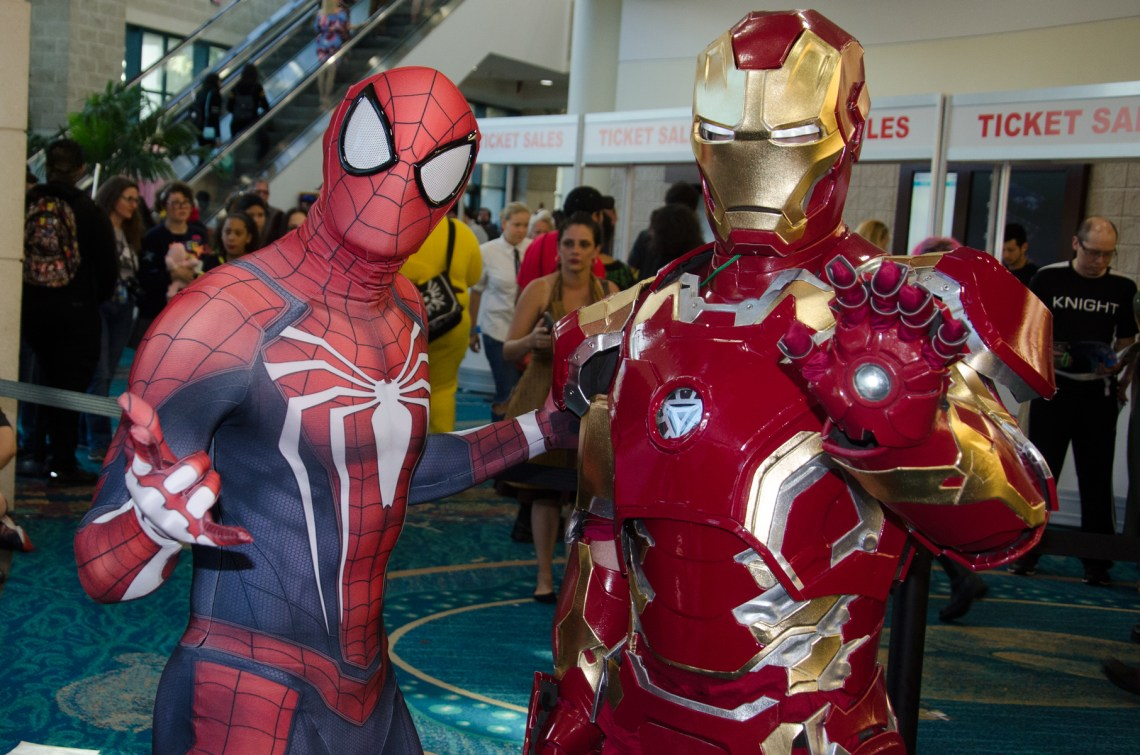 Spider Man and Iron Man at Florida Supercon