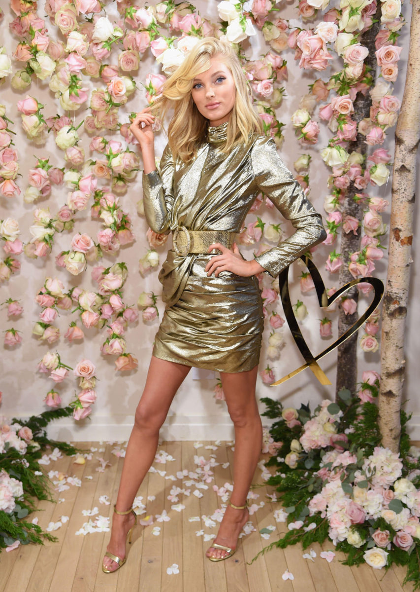 Victoria's Secret Angels Josephine Skriver and Elsa Hosk celebrate the all-new LOVE fragrance on September 7, 2017 in New York City