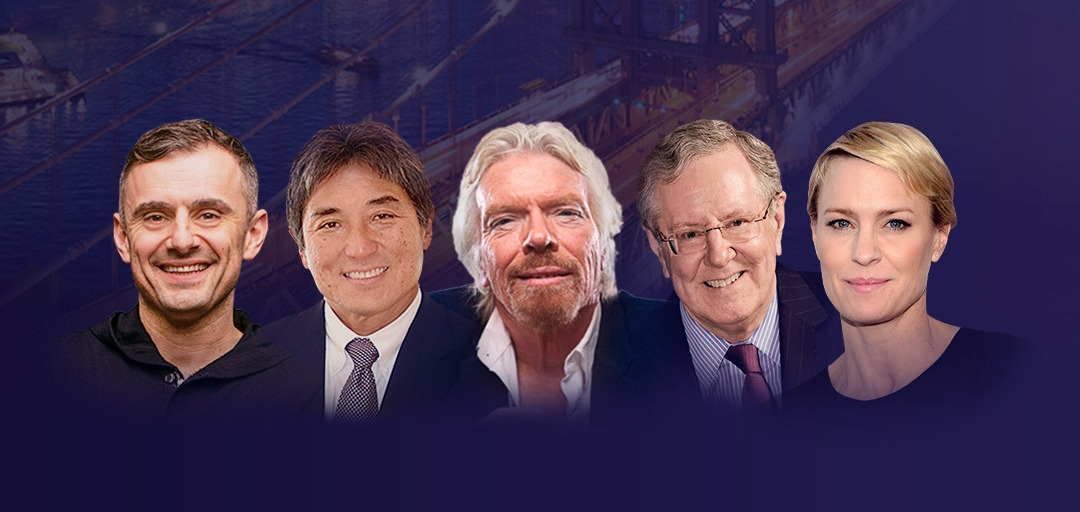 Gary Vayberchuk, Guy Kawasaki, Sir Richard Branson, Steve Forbes, Robin Wright