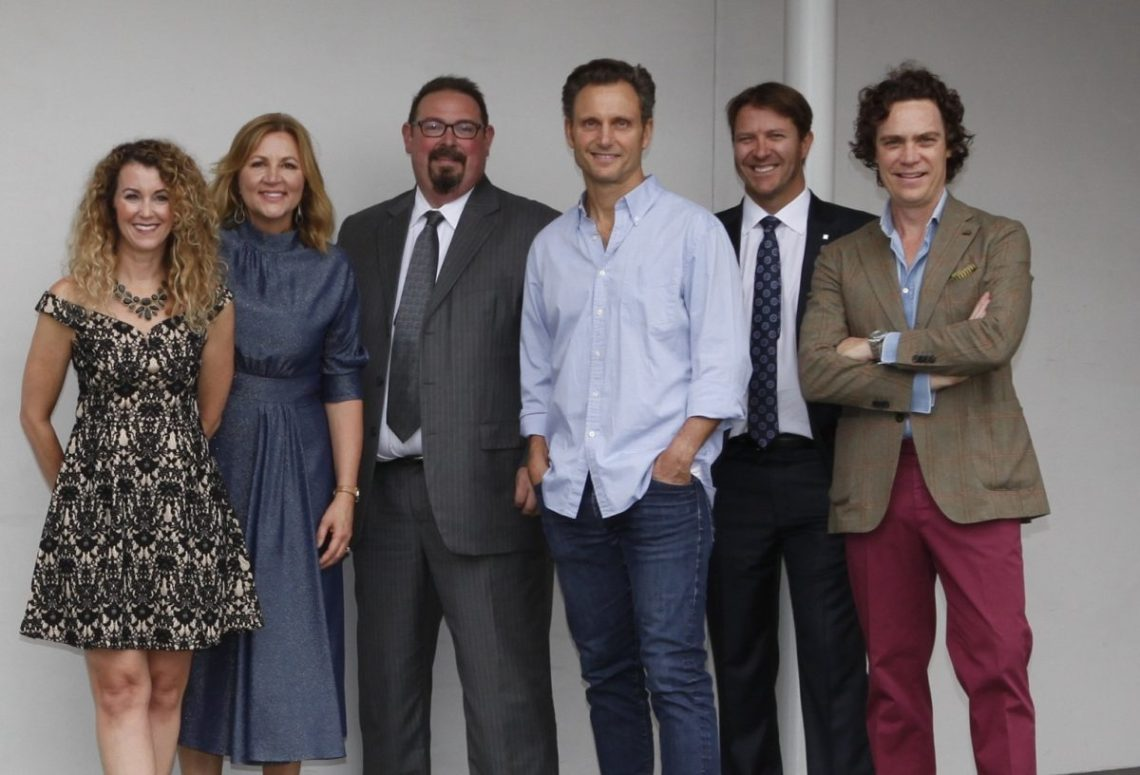 Laura Johnson, Sharon Prince, Amb. LuisCdeBaca, Tony Goldwyn, Carl Preller, and Jay Fielden