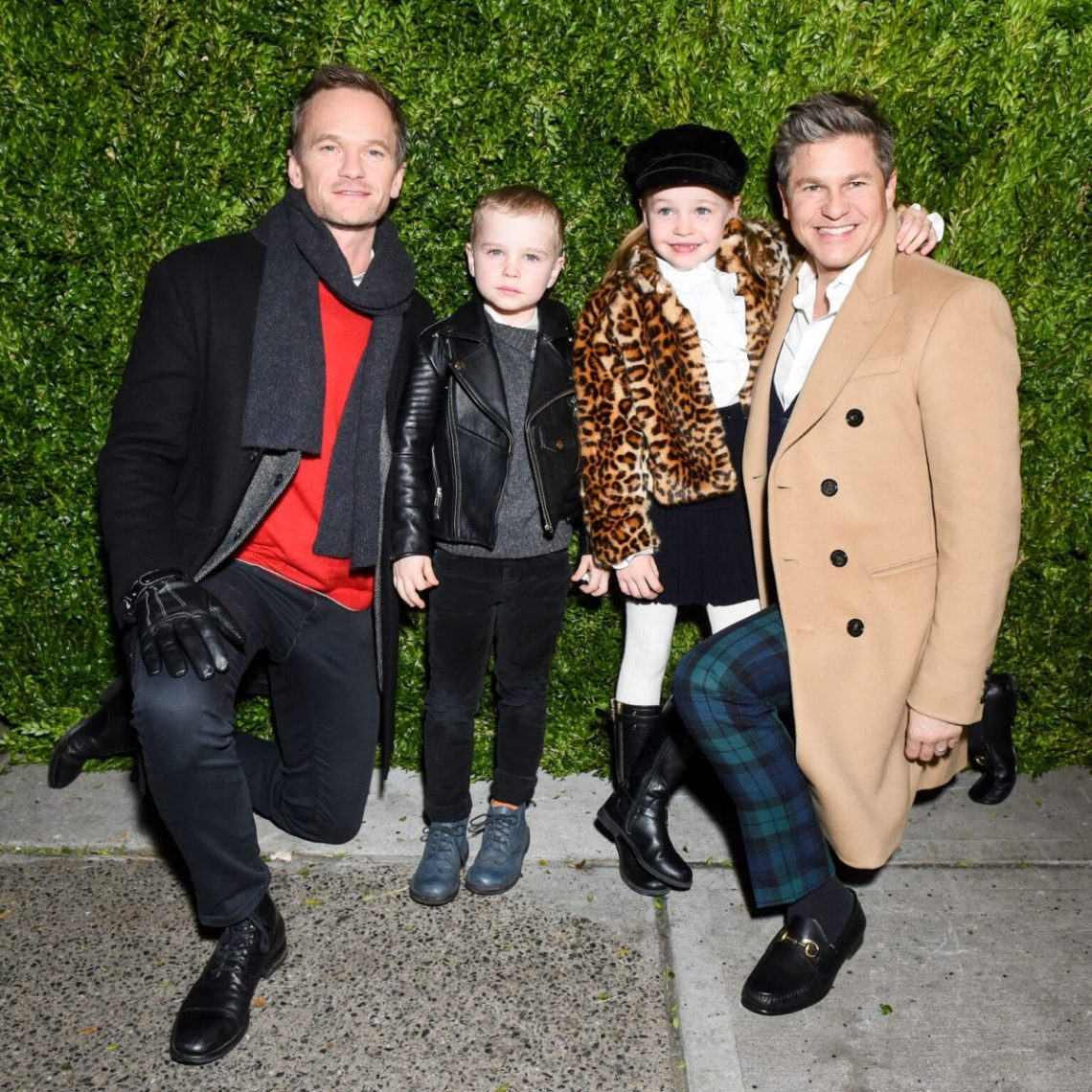 Neil Patrick Harris and David Burtka with their children
