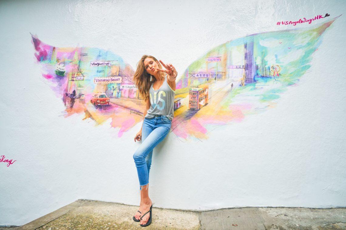 Josephine Skriver celebrates Victoria's Secret Hong Kong store opening