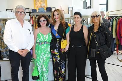 Michael Tessier, Petra Mason, Tara Solomon, Nathalie Halimi-Tessier, and Barbara Hulanicki
