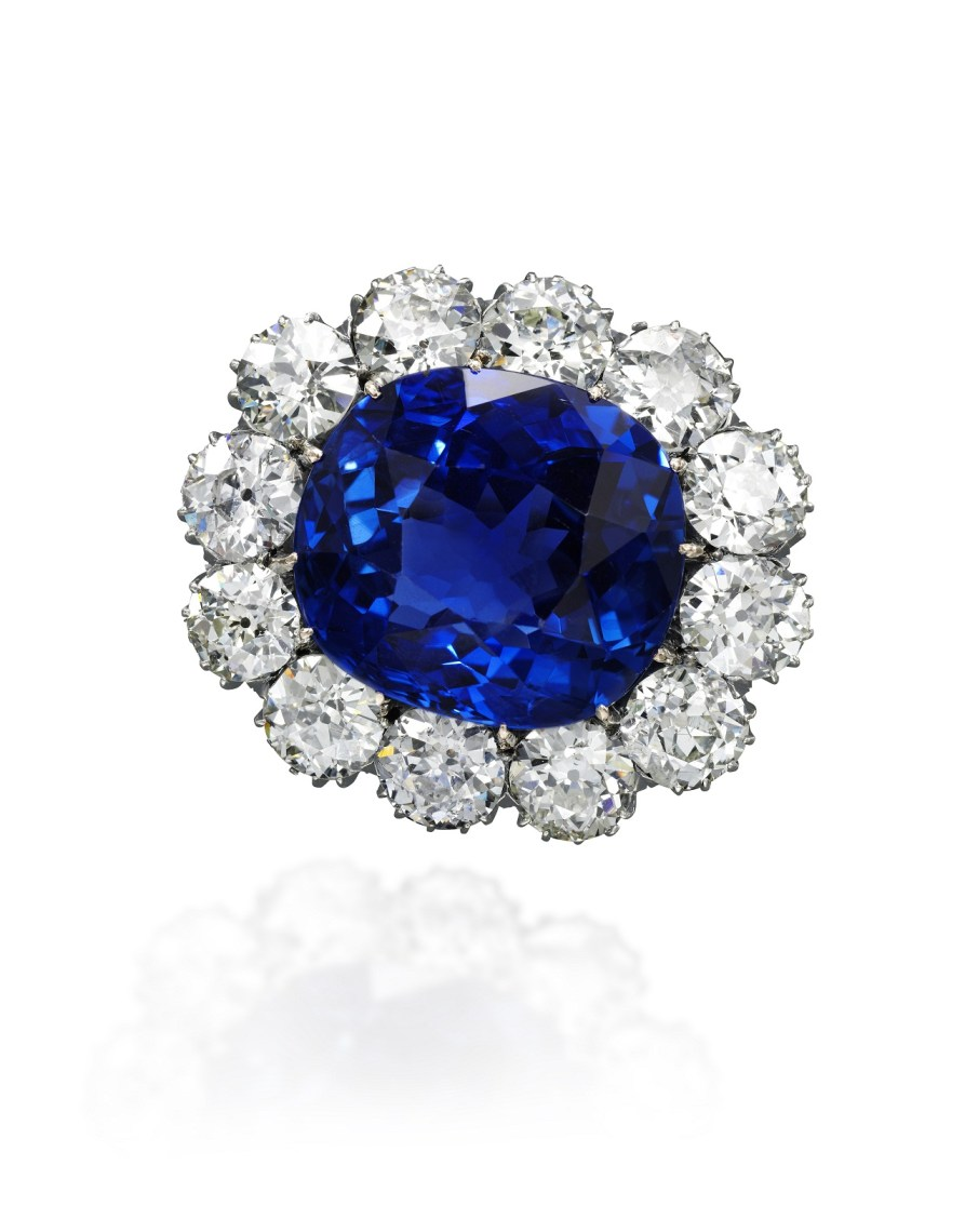 Impressive sapphire and diamond brooch - Royal Jewels from the Bourbon Parma Family - Sotheby's November 2018