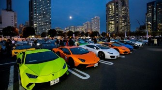 Lamborghini Day Japan 2018 celebrated with more than 200 Lamborghini cars in Yokohama