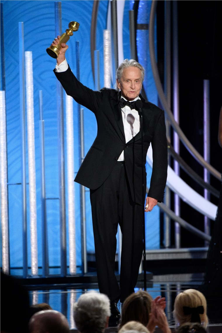 "Michael Douglas accepts the Golden Globe Award for BEST PERFORMANCE BY AN ACTOR IN A TELEVISION SERIES – MUSICAL OR COMEDY for his role in ""The Kominsky Method"" at the 76th Annual Golden Globe Awards at the Beverly Hilton in Beverly Hills, CA on Sunday, January 6, 2019."