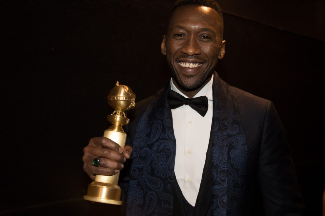 "After winning the category of BEST PERFORMANCE BY AN ACTOR IN A SUPPORTING ROLE IN ANY MOTION PICTURE for his work in ""Green Book,"" actor Mahershala Ali poses backstage with his Golden Globe Award at the 76th Annual Golden Globe Awards at the Beverly Hilton in Beverly Hills, CA on Sunday, January 6, 2019."