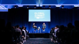 Jaden Smith, Issa Rae, Adam Rippon and Lilly Singh speak at the WeWork Global Summit 2019