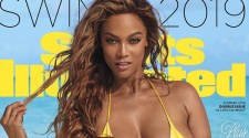 Summer 2019 Sports Illustrated Cover: Swimsuit: 2019 Issue: Portrait of Tyra Banks posing during photo shoot. Great Exuma, Bahamas 2/19/2019 CREDIT: Laretta Houston