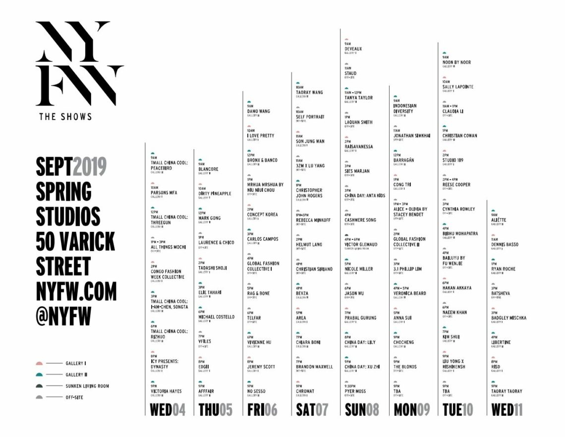 New York Fashion Week - The Shows - September 4-11, 2019 - Schedule 3