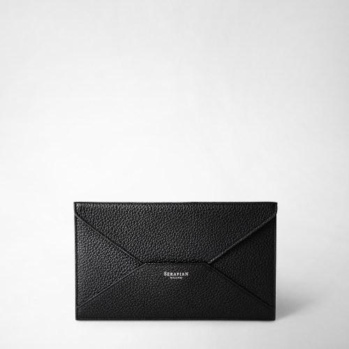 Serapian Envelope Cachemire leather black