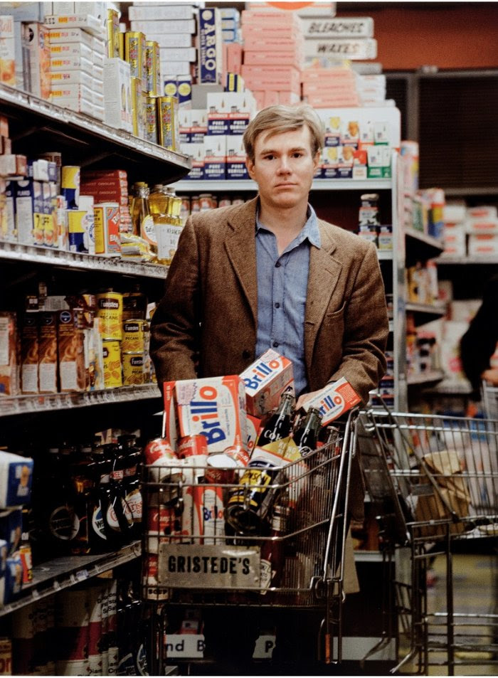 Andy Warhol shopping at Gristede's supermarket on Second Avenue, by Bob Adelman (executed 1964, printed 2008). Archival inkjet print. Gift of Bob Adelman