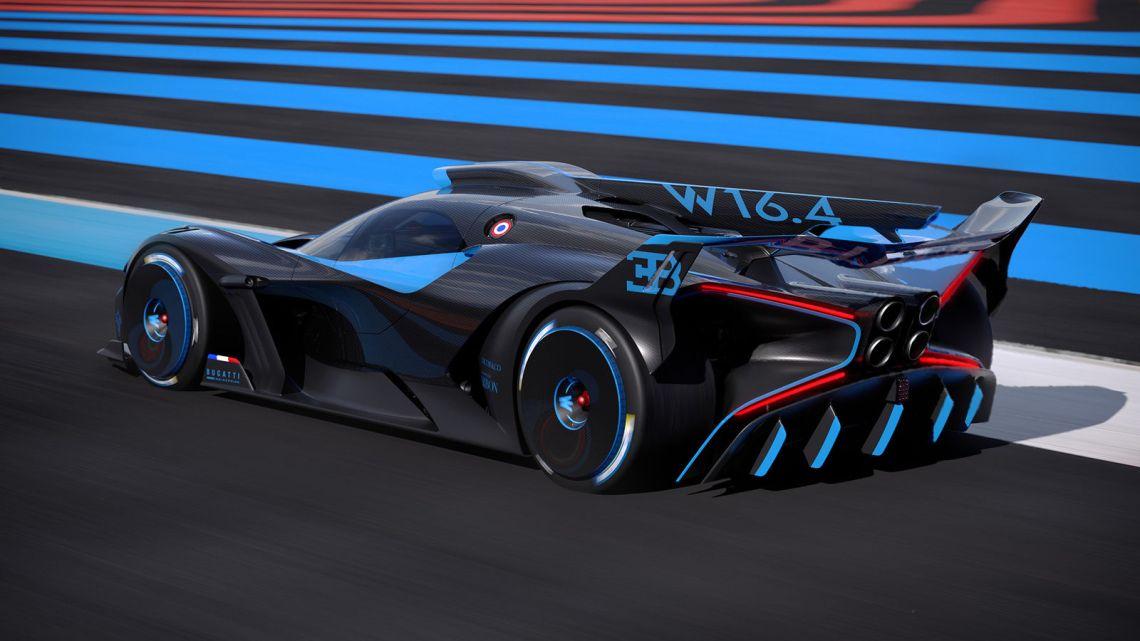 Bugatti Bolide Driving